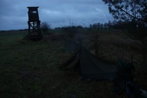 erster morgen - nass und trüb und kalt und schön!