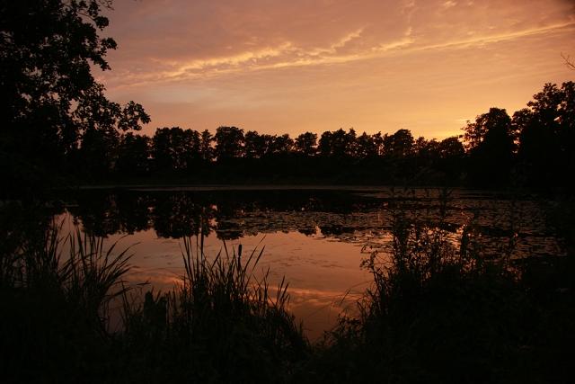 Warnow, Vorbeck, Sonnenuntergang